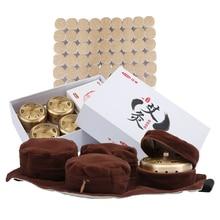 Cofoe caja de quemador de moxibustión de cobre sin humo, palo Moxa s, moxibustión portátil para acupuntura, 49 Uds.