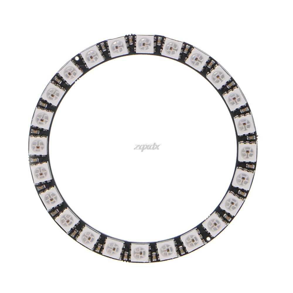 1 Pcs 24 Bits WS2812 5050 RGB LED Ring Lamp Light With Integrated Drivers Drop Ship