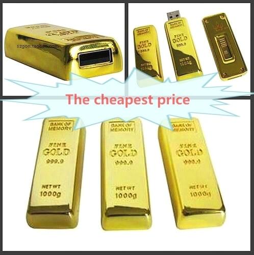 Hot New Real Capacity Gold Bar USB 3.0 Flash Memory Drive Stick Disk Key 16/32/64/128/256GB USB Flash Drive Pendrive Gift OTG