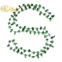 ZHIXI Long Baroque Pearl Necklace Women Natural Freshwater Fashion Trendy Stone Necklace For Party Green X210