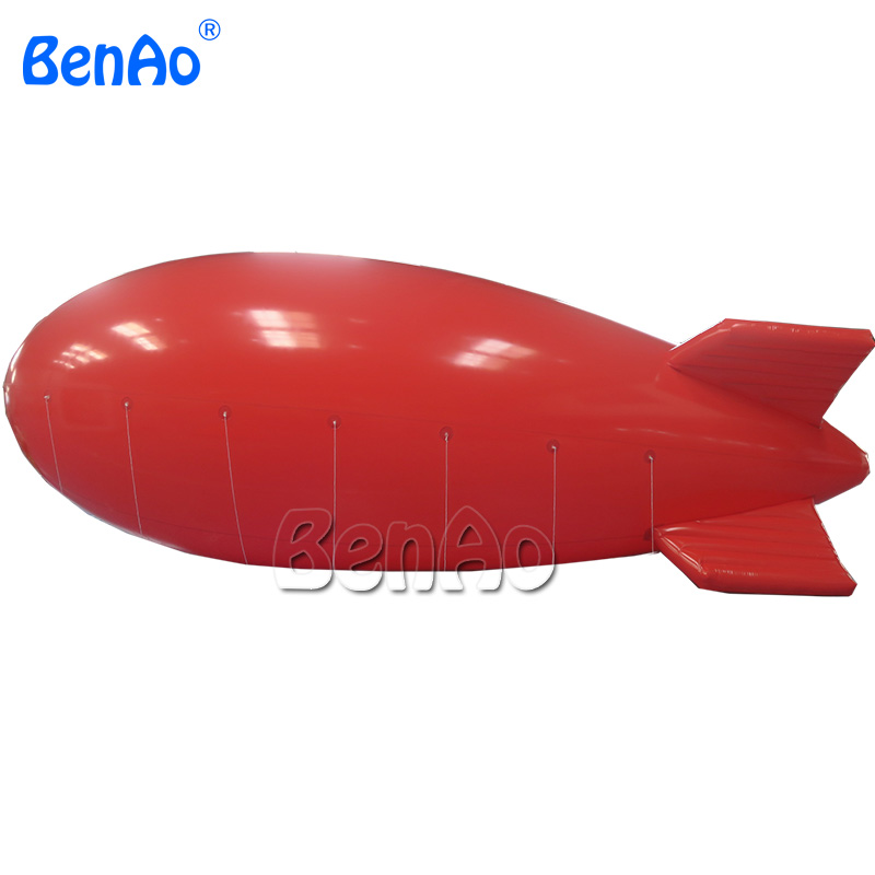 HB05 BenAo 8m Hot Sale Customized Red Inflatable Helium Airship Portable Advertising Banner Air Zeppelin Blimp inflating airship balloons helium for advertising 0 18mm inflatable promotion giant pvc flying helium blimp airplane balloon