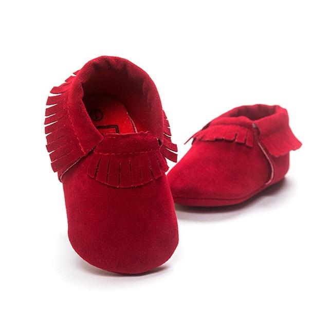 Новый PU замши новорожденный мальчик девочка мокасины мягкие Moccs Bebe бахрома мягкой подошве non-slip обувь чистка