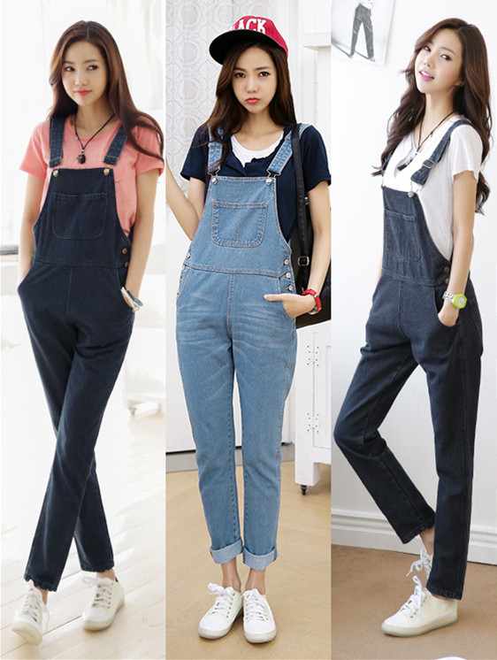2015 New Style plus size Summer Spring font b Women s b font Denim Jumpsuits Overalls