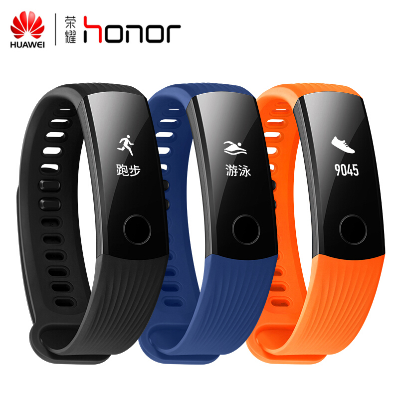 Original Huawei Honor Band 3 Smart Wristband Swimmable 5ATM 0.91 OLED Screen Touchpad Continual Heart Rate Monitor Push Message
