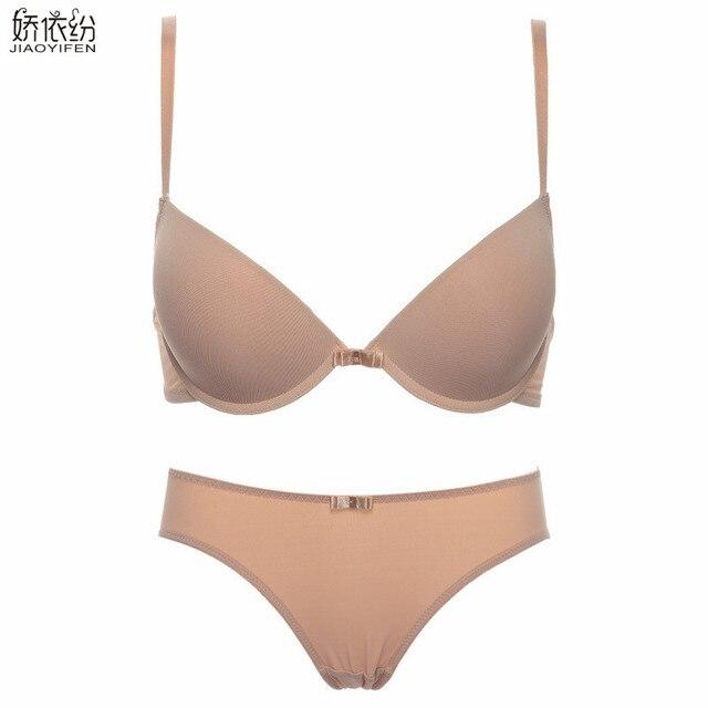 07068ec93 JYF Europa novo sexy conjunto de lingerie sem costura suave profunda V  xícaras push up bra