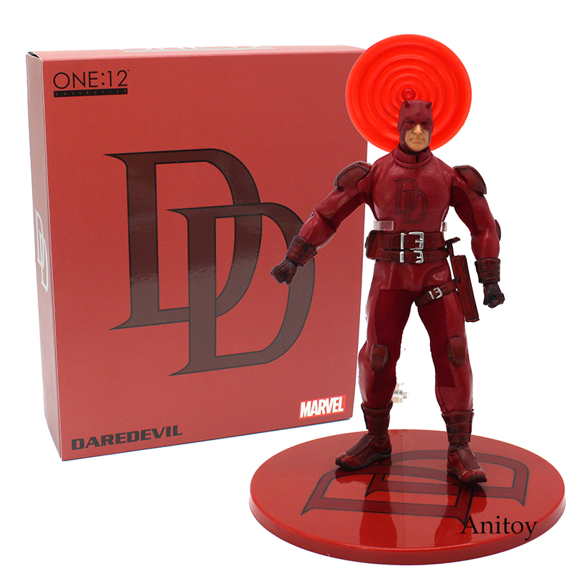 Marvel Daredevil 1/12 Scale PVC Action Figure Collectible Model Toy 16cm fire toy marvel deadpool pvc action figure collectible model toy 10 27cm mvfg363