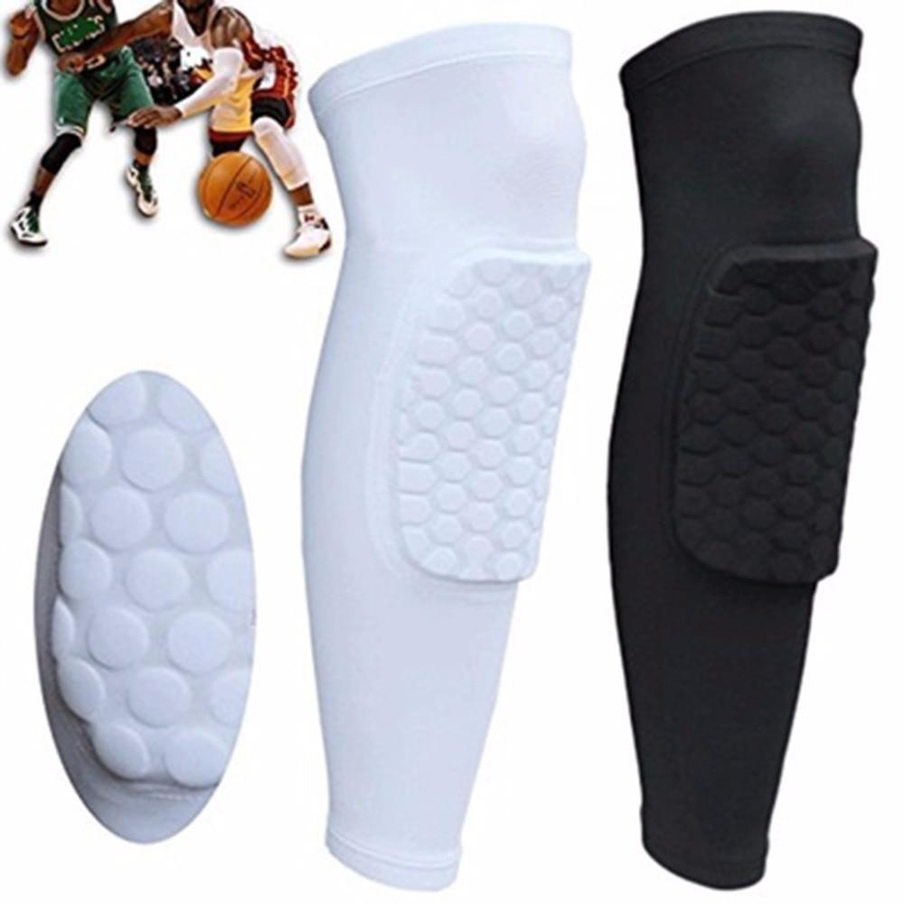 Ultralight elastic breathable football basketball volleyball knee pads Leg Long Sleeve Protector Sport Safety Calf Kneepad
