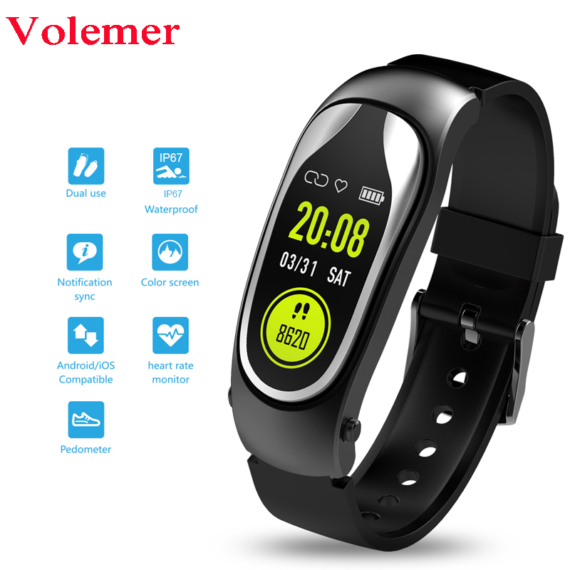 Fitness Bracelet Smart Band Bluetooth Headset Answer Call Run Walk Smart Wristband with Earphones for Xiaomi