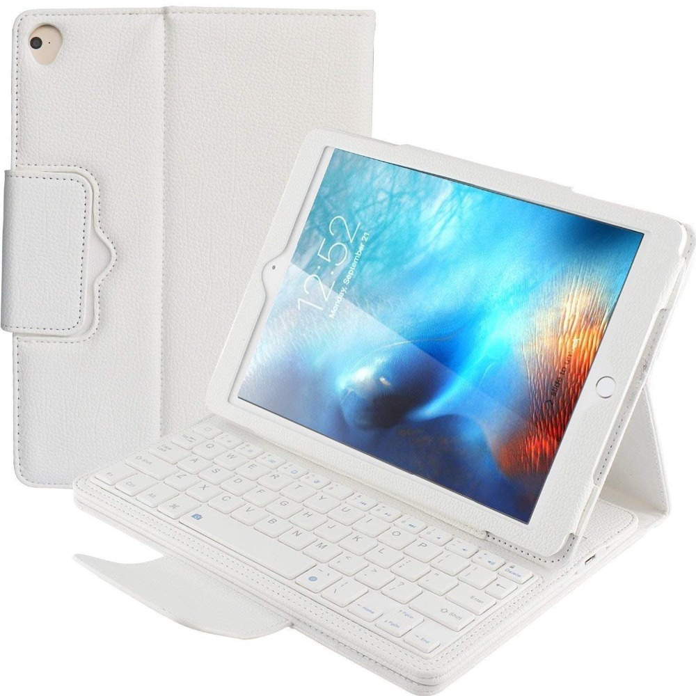 PU Leather Keyboard Case for Apple iPad Air,Detachable Bluetooth Keyboard Case for iPad Air 1 A1474 A1475 A1476 Tablet Case for apple ipad air 1 full wrap leather case folio folding cover case with passport case card slot 9 7 inches a1474 a1475 ynmiwei