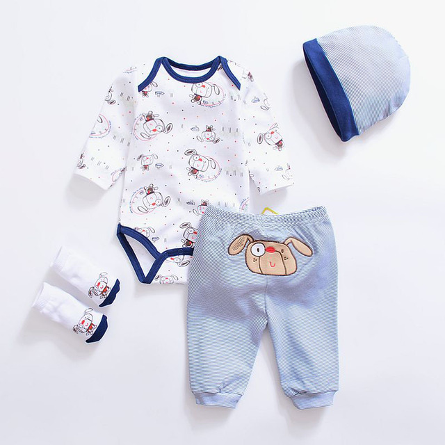 f9c272e3dd5d2 Baby clothing sets Newborn baby boys clothes cotton long sleeve O-neck gray  unisex infant