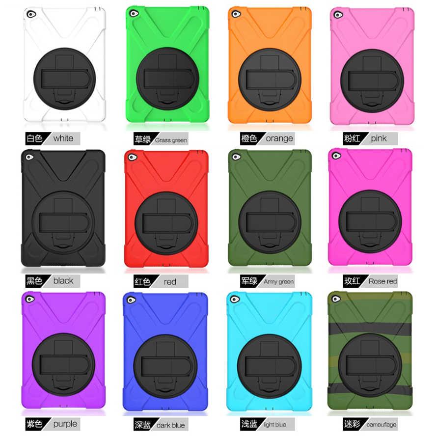 Voor iPad Air 2 Case Heavy Duty Shockproof Hand Strap Cover Voor iPad 6th Generatie Kickstand Hybrid Kinderen Veilig Armor tablet Gevallen