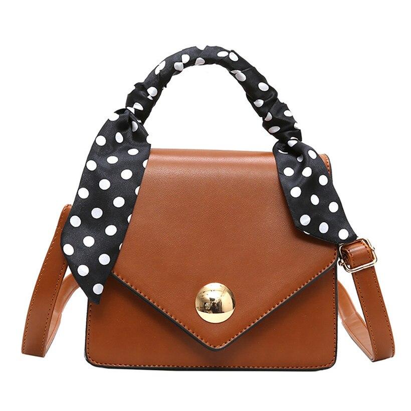 Big Sale 2018 Autumn New Bag for Women Tide Female Bag Wild Big Bag Retro Handbag Commuter Scarf Femme Shoulder Messenger Bag 1
