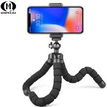 Mini portable bomb sponge Octopus tripod bracket mobile phone smartphone tripod for iPhone Xiaomi Huawei Samsung цена 2017