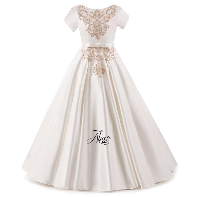 Vestidos de Erstkommunion Sleeveless Rüschen Blumenmädchen Kleid Kleine Prinzessin Erstkommunion Kleid Hochzeit
