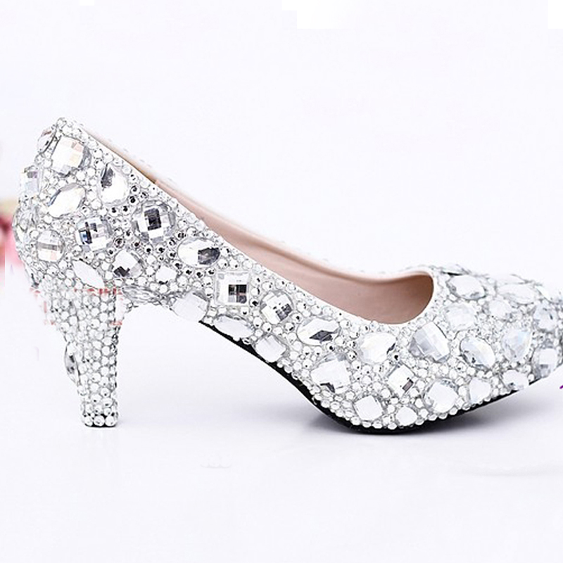 De Heels Silver silver Moyen 8cm Argent Mère Pouces Parti 2 Mariée Strass Magnifique Talon Chaton Heels Bal Talons Chaussures 6cm Danse La Mariage TxRSnIfqRB