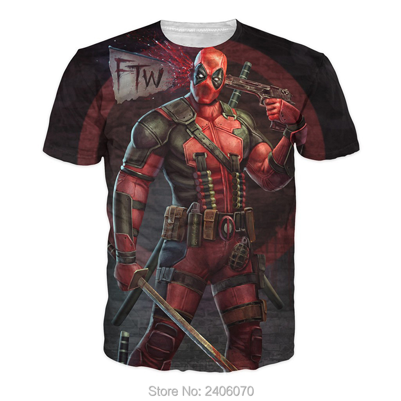 Teenager boy t shirt children summer kids clothes deadpool 3d t-shirt teens boy tees tops 3d sweatshirt superhero costume-3