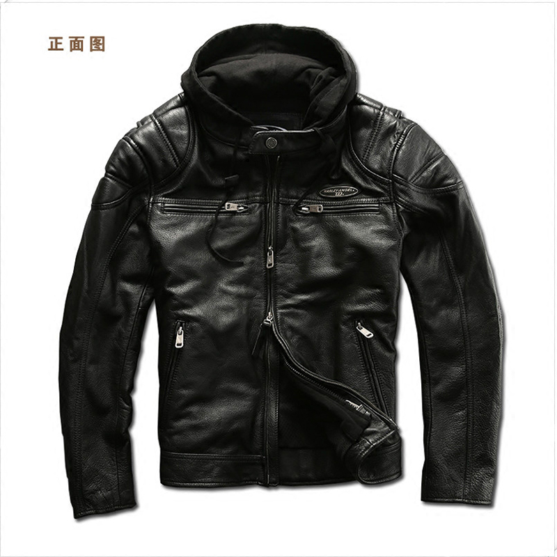 european big size high quality super genuine cow leather motor rider jacket mens big size casual cowhide leather jacket