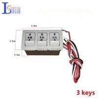 Cappa interruttore 3 keys scarico fumi ventilatore 3 push-button switch button brand new cappa parti