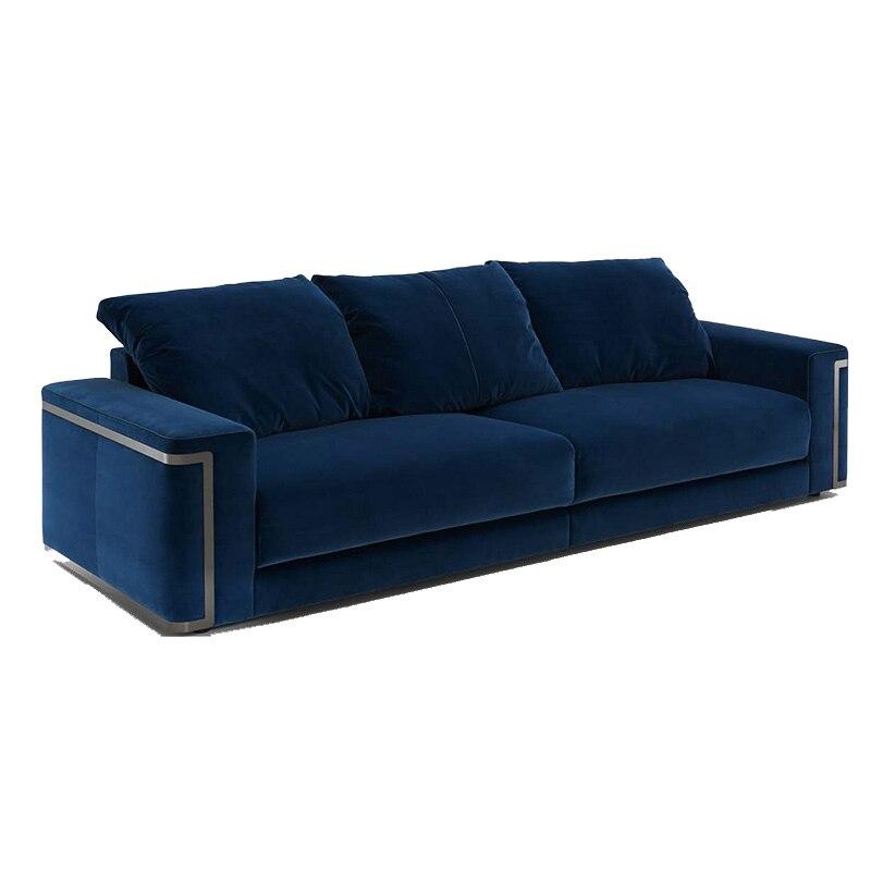 US $1680.0 |Fragrant luxury custom furniture post modern velvet large sofa  sets-in Living Room Sets from Furniture on AliExpress