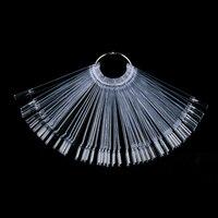 50Pcs New Fashion False Display Nail Art Clear Fan Wheel Polish Practice Tip Sticks Plastic Nail Art Nail Art Accessories