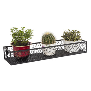 Image 5 - Balcony hanging flower stand iron frame plant stand outdoor decoration display metal frame