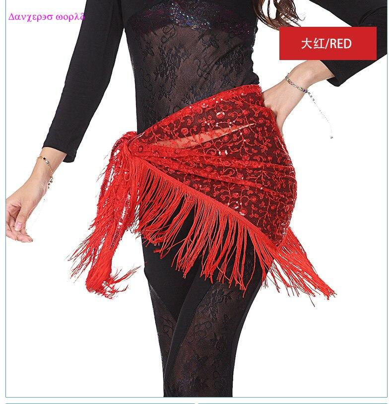 Wholesale Belly Dance Belt For Girls Belly Dance Hip Scarf Sexy Flowers Tassel  Belly Dance Belt Women Belly Dance Clothes