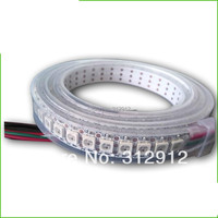 144leds/m WS2812B(5050 rgb led with WS2811 IC built in) led pixel strip,DC5V,2m long;waterproof in silicon tube;white PCB