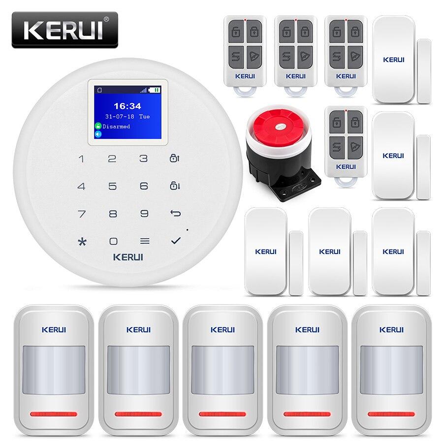 Burglar Alarm Cost >> Us 98 74 21 Off Kerui G17 Cost Effective Wireless Home Security Gsm Alarm System Burglar Alarm Kits Phone Ios Android App Control With Sensor In