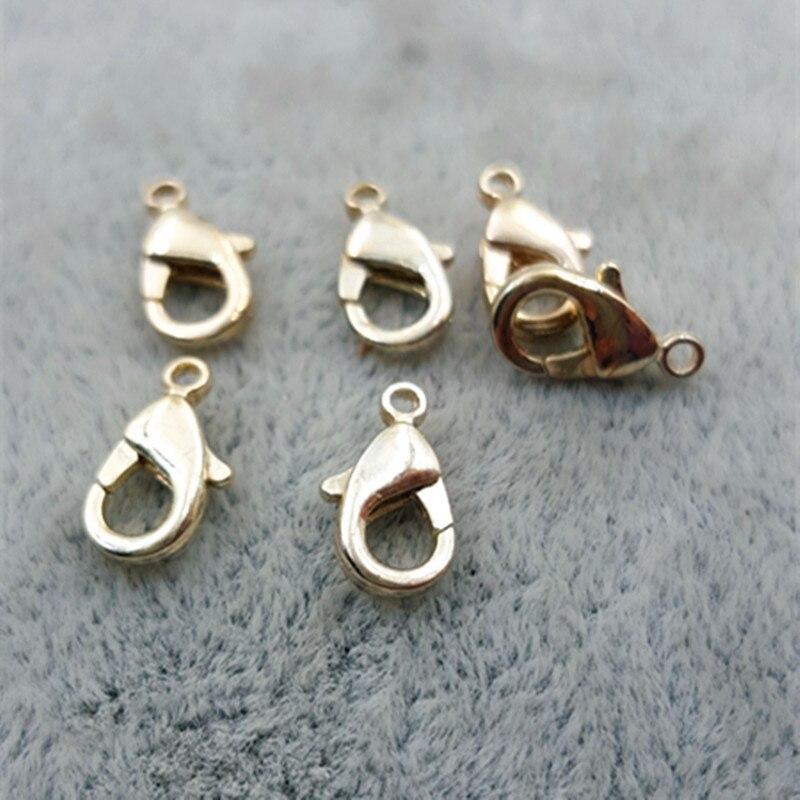 1000 pièces/sac 10*6mm or homard alliage métal fermoirs griffe fermoir connecteur pour les résultats de bijoux à bricoler soi-même