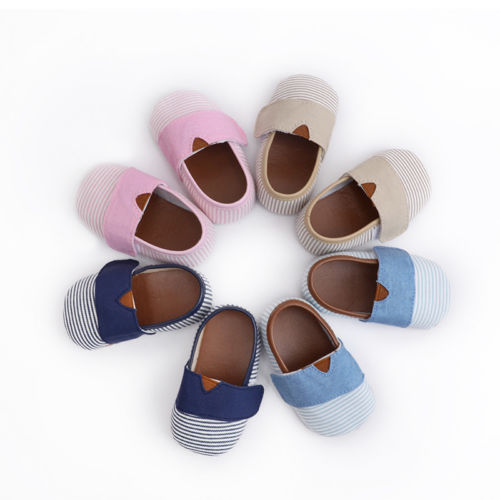 Helen115 Newborn Baby Boys Girls Shoes Toddler cloth shoes Cotton Soft Crib Shoes 0-18Mo ...