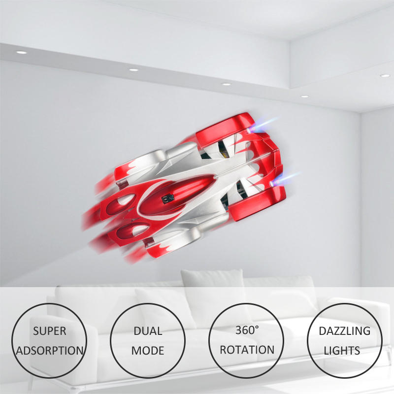 Image 4 - 1PCs RC car Remote Control Climbing RC Car with LED Lights 360 Degree Rotating Stunt Toys Antigravity Machine Wall RC CAR-in RC Cars from Toys & Hobbies