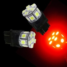 10PCS 3157 3057 13SMD 5050 Red Brightest Car LED Front Indicator Interior Light Bulbs
