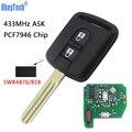 OkeyTech дистанционный брелок 433 МГц PCF7946 чип 5WK4 876/818 для Nissan Qashqai Elgrand X-TRAIL Navara Micra Note Cabster NV200