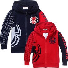 Kids Baby Girls Boys Spiderman Long Sleeve Cotton Cartoon Sweatshirt Hoodies Jacket Jumpers Coat