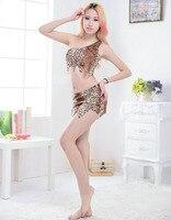 Halloween Indyjski aborygenów cosplay kostium Leopard Skrt i Topy Kobiet Vestidos Femininos bielizna erotyczna Sexy Party Bodycon