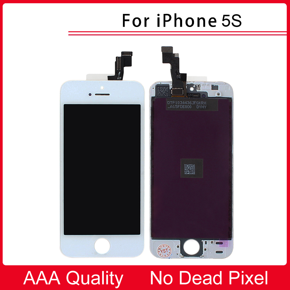 100% Tested AAA Quality White New LCD Display + Touch Screen Digitizer Replacement Repair Frame Assembly for iPhone 5S new white lcd display touch screen digitizer replacement repair frame assembly for apple iphone 5s smart phone