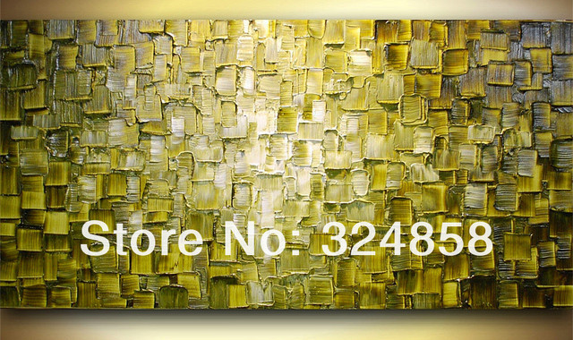 Handmade Wall Painting Brown Rectangle Artwork Oil Painting On ...