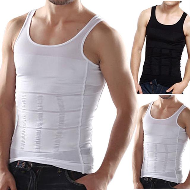 La alta calidad del corsé undershirt underwear spandex body men 2017 nuevos hombres chaleco modelado faja faja de cintura de nylon masculina
