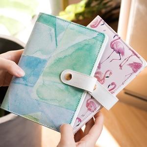 Image 5 - A6 Leuke Spiraal Notepad Pu Leather Gekleurde Flamingo Sakura Planner Kawaii Dagboek Boek School Office Supply Papelari