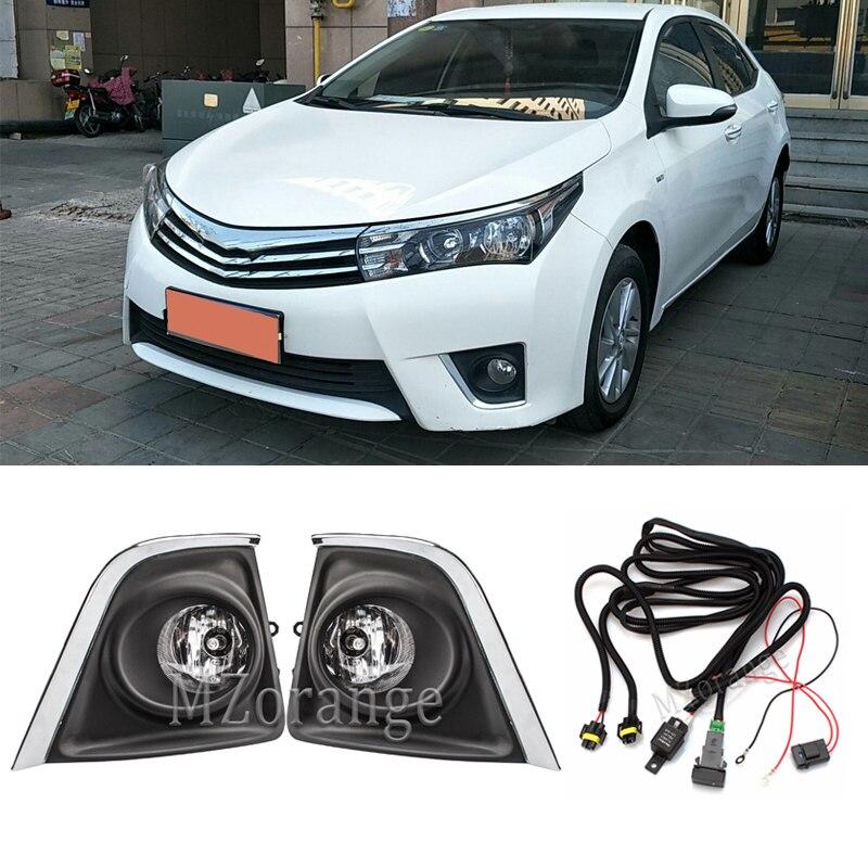 Передние противотуманные фары, противотуманные фары для Toyota Corolla 2014, 2015, 2016, противотуманные фары, галогенные переключатель ламп провода, ре...
