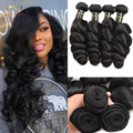 Good Affordable Peruvian Virgin Hair Loose Wave 7A Unprocessed Virgin Peruvian Hair 4 Bundles Wavy Human Hair Weave 100g/pc