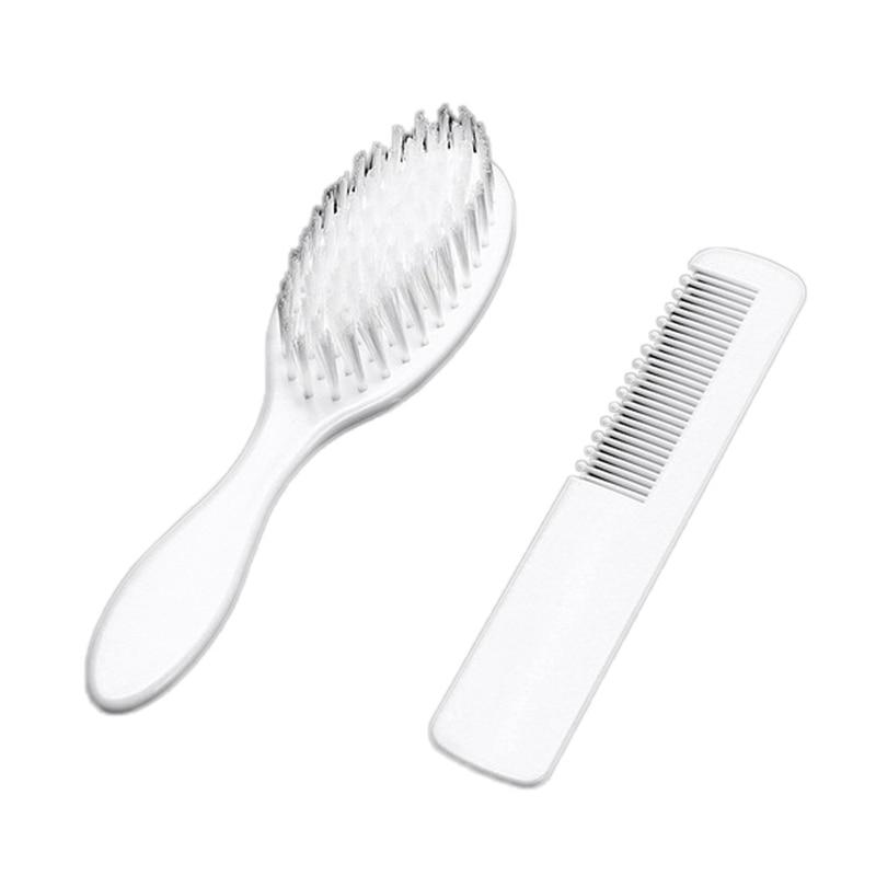 Heißer Verkauf Headwear Baby Mädchen Jungen Weiß Haarbürste Neugeborenen Haar Pinsel Infant Kunststoff Kamm Kopf Massager