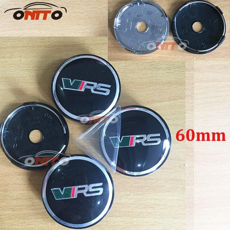 20pc 56mm 60mm For VRS logo Wheel Dust-proof emblem covers for skoda Octavida Bora Jetta Fabia Superb car styling