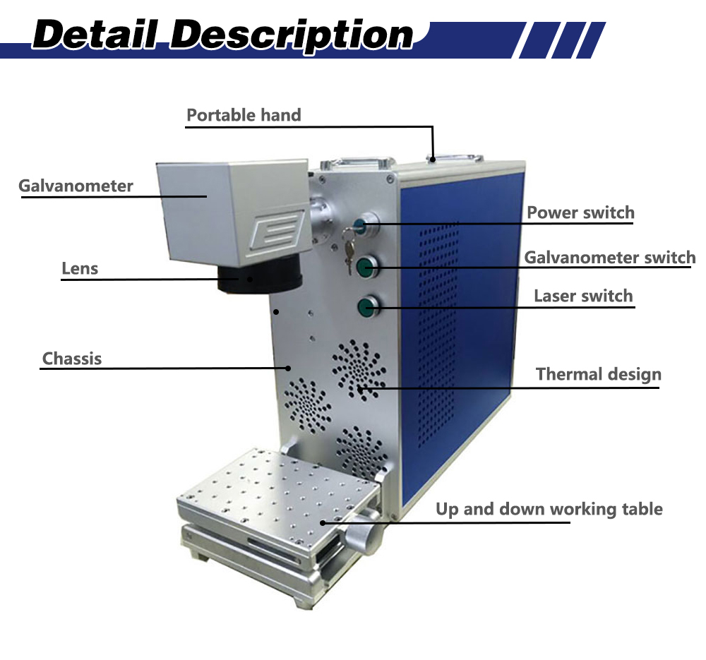 20w Sino Galvanometer Fiber Laser 2d Working Table 150*150 Metal Laser Marking Machine With EZCAD For Gold Sliver Jewelry