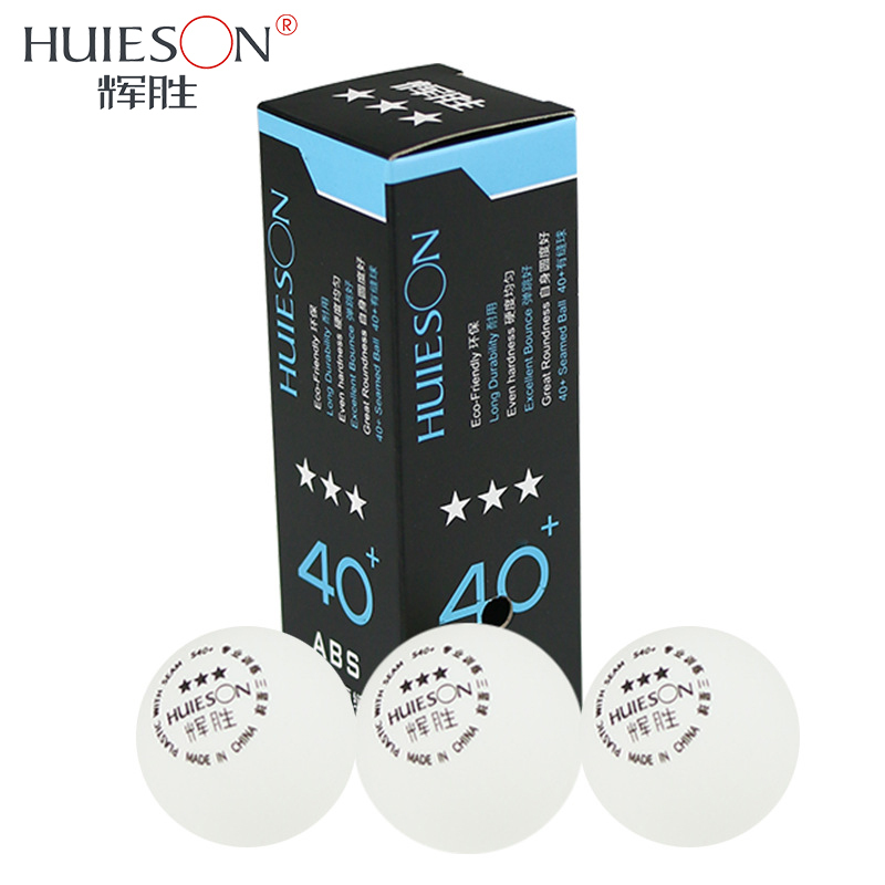 Huieson 3pcs/pack Professional Table Tennis Balls Plastic Ping Pong Ball 40+mm 3 Star New Material ABS Table Tennis Accessories