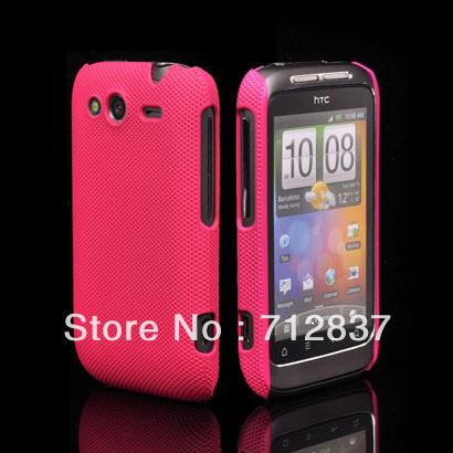 Wholesale or Retail NEW FASHION PLASTIC NET HARD DREAM MESH HOLES SKIN CASE PROTECTOR GUARD COVER FOR HTC Wildfire S G13