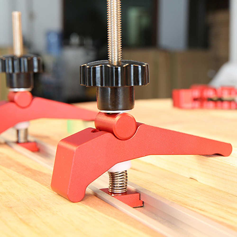 Быстродействующие из алюминиевого сплава удерживающие тиски для деревообработки стола зажим t-слот т-трек зажим набор Деревообрабатывающие инструменты деревообрабатывающий инструмент