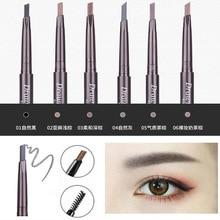 Color geometry double eyebrow pencil waterproof non-marking lasting wordmakeup beginner thrush not blooming eyebrow powder