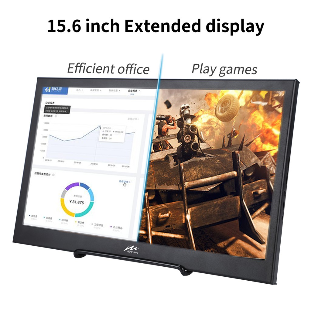 15 6 inch Portable LCD Monitor PC 1920x1080 60Hz HDMI PS3 PS4 Xbox360 1080P IPS LCD