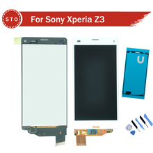 Calidad aaa para sony xperia z3 compact z3 mini d5803 d5833 pantalla lcd con pantalla táctil digitalizador asamblea + sticker + herramientas
